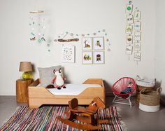 I like the furniture arrangement. Forest Friends DIY Room Kit by ChildrenInspire on Etsy, $75.00