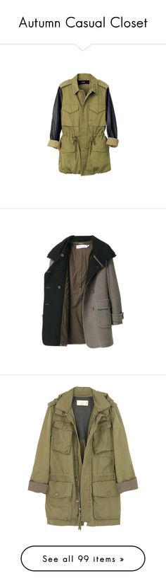 """Autumn Casual Closet"" by kinky-rick ❤ liked on Polyvore featuring outerwear, coats, jackets, tops, veda, women coats, brown coat, women, fringe coat and see by chloe coat"