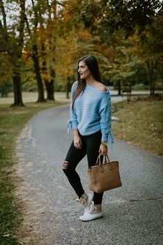 asymmetrical lace up sweater, off the shoulder sweater, off the shoulder lace up sweater, chicwish outfit, sperry duckboots, sperry cold weather boots, sperry saltwater boots, fall style, fall fashion // grace wainwright a southern drawl
