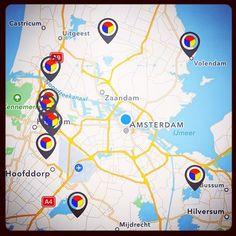 Dit zijn de eerste tien Stampions, in een cirkel om Amsterdam! Zoek ze vanaf dit weekend op met de vernieuwde app #StartFortenseizoen #Stampions