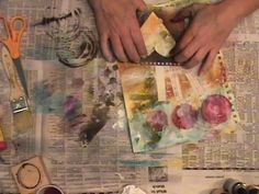 Roben-Marie Smith totally brilliant art journaling video! ....okay, I would've stopped halfway through, I thought it looked great! but seeing the finished result, I see why she just keeps going!