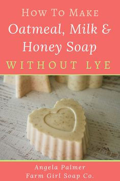 diy soap Learn how to make soap without lye with this super easy oatmeal, milk, and honey recipe. Its the perfect DIY soap recipe for beginners! Soap Making Recipes, Homemade Soap Recipes, Diy Soap Recipe Without Lye, Diy Organic Soap Without Lye, Diy Soap Bars Without Lye, Diy Organic Soap Bars, Home Made Soap Without Lye, Making Soap Without Lye, Diy Soap Easy