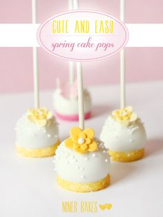 Very Simple Flower  Butterfly Cake Pops - http://www.diypinterest.com/very-simple-flower-butterfly-cake-pops/