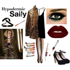 Hypodermic Sally : American Horror Story Hotel by bellageorgia on Polyvore featuring RVCA, Allegra K and Bisou Bijoux Ariela