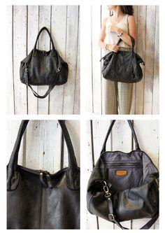 """Handmade Italian  Leather Messenger Bag """"Taglio Vivo 2 """" di LaSellerieLimited su…"""