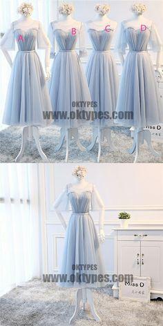 Mismatch Top Lace Tulle Bridesmaid Dresses, Pretty Bridesmaid Dresses, TYP0595 #bridesmaidsdresses #bridesmaiddress #bridesmaids