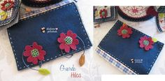 Guarda hilos y guarda agujas Love Flowers. Fieltro Patch.