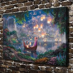 H1208 Thomas Kinkade Tangled,Hd Canvas Print Home Decoration Living Room Bedroom Wall Pictures Art Cartoon Animation Painting