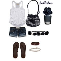 Hollister outfit by pinksparklesloth on Polyvore featuring Hollister Co.