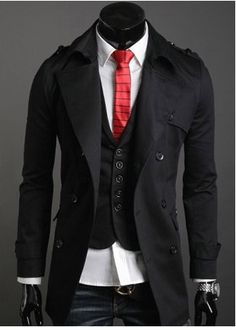 Fasion trench-jaket. ONLY $43, men's wear, kpop fashion, kfashion, korea, asian fashion, asia, guy's wear, boy, man's wear, korean