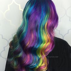 "1,732 Likes, 9 Comments - New Hampshire Pulp Riot Vivids (@hair_princess_steph) on Instagram: ""Rainbow Waves #btconeshot_color16 #btconeshot_rainbow16"""