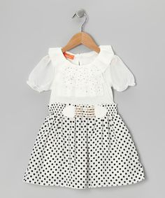 Take a look at this Black & White Polka Dot Dress - Toddler & Girls on zulily today!