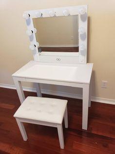 Xlarge Shay Vanity set with stool - Mobilya fikirleri, Vanity Makeup Rooms, Vanity Room, Makeup Vanities, Small Room Bedroom, Bedroom Decor, Bedroom Ideas, Canopy Bedroom, Master Bedroom, Vanity Sets For Sale