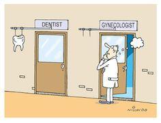 Nivaldo Cartuns: Ginecologista...