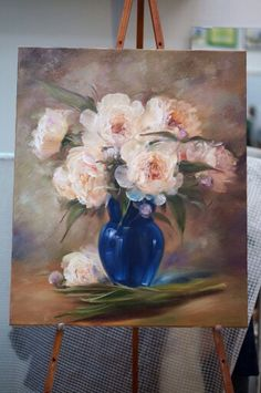 Realistic Oil Painting, Flower Painting Canvas, Oil Painting Flowers, Flower Canvas, Flower Art, African Art Paintings, Seascape Paintings, Colorful Paintings, Beautiful Paintings