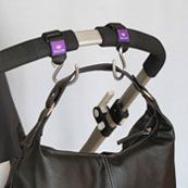 Hooks attach to your stroller to carry purse, diaper bag or shopping bag(s) :) I use mine all the time! GREAT baby gift!