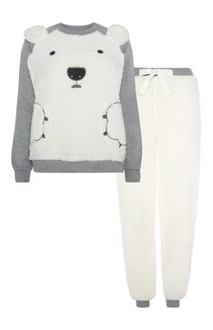 Primark - IJsbeer-pyjama van fleecestof