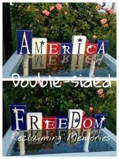 Silhouette Project Ideas - My Wood Crafting 2x4 Crafts, Wood Block Crafts, July Crafts, Wooden Crafts, Summer Crafts, Holiday Crafts, Holiday Fun, Wood Projects, Wood Blocks