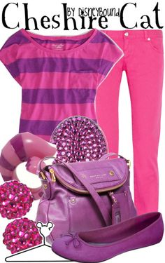 You will be nothing but smiles in this Cheshire Cat outfit.  | Disney Fashion | Disney Fashion Outfits | Disney Outfits | Disney Outfits Ideas | Disneybound Outfits | Alice in Wonderland Outfit |