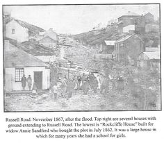 Russell Road after a huge storm in November 1867