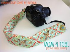 Easy Sew Camera Strap Cover {2 Options} - Mom 4 Real