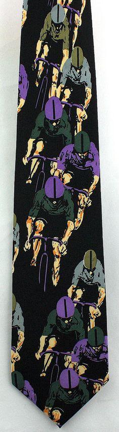 New Bike Racing Mens Necktie Bicycle Cyclist Race Cycling Sports Black Neck Tie #Parquet #NeckTie