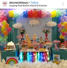 My Little Pony Birthday Party Dessert Table And Decor