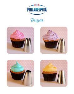 Emplea distintas duyas para decorar tus #cupcakes. #GoodIdeas
