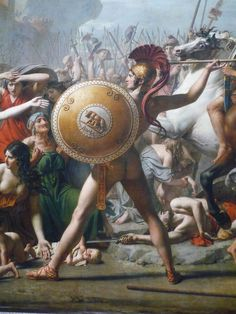 The Intervention Of The Sabine Women, detail, Romulus