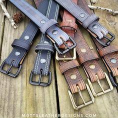 Genuine Water Buffalo Belts. Mottsleatherdesigns.com #mottsleatherdesigns #doyouevenmotts #exoticleather #waterbuffalo #gunbelt #belt #handcrafted #madeinlouisiana