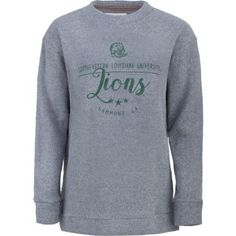 Three Squared Juniors' Southeastern Louisiana University Finley Comfy Terry Pullover (Grey, Size Small) - NCAA Licensed Product, NCAA Women's at Ac...