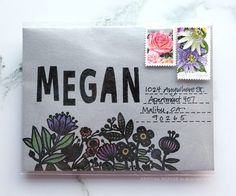 Monthly Mail Art – February addition! Kristina Werner for the Simon Says Stamp blog.