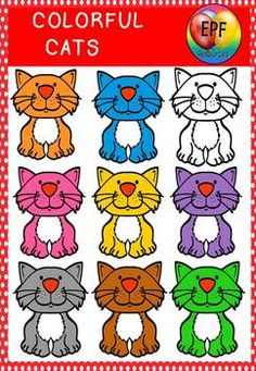 Cat clipart 300 dpi perfect for worksheets clip cards etc. This product is ready to go in power point. No more annoying resizing to do. TERMS OF USE ARE VERY SIMPLE JUST USE MY LOGO IF YOU USE THIS PRODUCT COMMERCIALLY. **** THIS IS A SMALL SAMPLE OF THE TYPE OF CLIP ART