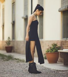 #Lookbook 2015 Fringes legs little black dress & ponytail. Trends of the season in only one picture! #sendra #sendraboots #highquality #handmadeboots #madeinspain #loveboots #fashionboots #fashion #design #trend #look #streetstyle #style #outfit #ootd #outfitoftheday #bestoftheday #photooftheday #picoftheday #girl #woman #love