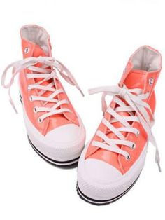 Trend Rainbow orangeThick Soles And High Upper Shoes