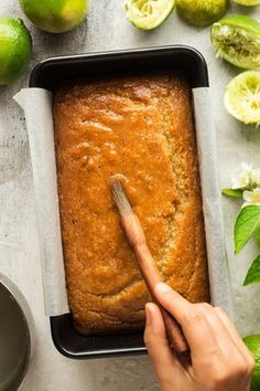 Vegan coconut and lime drizzle cake - Lazy Cat Kitchen - Vegan coconut & lime drizzle cake - Healthy Vegan Dessert, Cake Vegan, Vegan Bread, Vegan Dessert Recipes, Vegan Sweets, Vegan Foods, Vegan Dishes, Lime Recipes Vegan, Gluten Free Vegan Cake