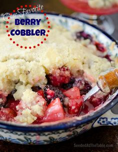 I made a cobbler last year with our nectarines, plus whatever berries we had, so good!!!! - jb Our Favorite Berry Cobbler