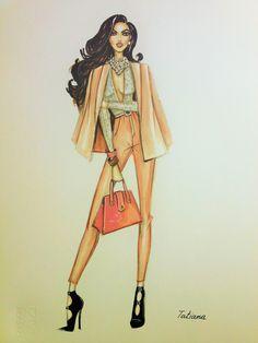 ORIGINAL Fashion Illustration-Fashion girl by loveillustration