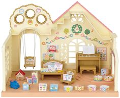 Calico Critters Sylvanian Families Forest Nursery With School Bus Toys