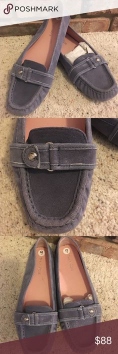 Taryn Rose Blue Soft Leather Loafer Drivers Shoe 9 New! Never worn. Very nice and comfortable soft leather slip on Loafer. Driver non slip soles. Great casual or dressy flats. Silver rose detail hardware. True to size. Taryn Rose Shoes Flats & Loafers