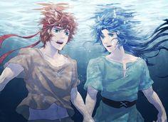 Aioros y Saga