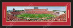 One framed large Iowa State University stadium panoramic, double matted in team colors to 39 x 13.5 inches.  The lines show the bottom mat color.  $129.99 @ ArtandMore.com
