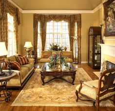 Old World Elegance traditional living room
