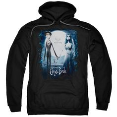 CORPSE BRIDE/POSTER-ADULT PULL-OVER HOODIE-BLACK