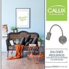 Convierte tu pequeño salón en un espacio de inspiración y renovación. Utiliza una bella elección de muebles con discretos detalles de textura y color. Con nuestra luminaria podrás resaltar el elemento que más te agrade, atrévete con Calux todo es posible. #Calux #Tendencia #Iluminación #Innovación #Belleza #Espacios #Diseño #interiores #Decoración  #Contemporáneo #Idea #Frases  #Inspiración #Innovation #Trend #Beauty #Space #Design #Interior #Decoration #Contemporary #Follow