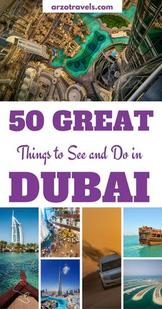 United Arab Emirates: Dubai is more than just the city of skyscrapers and records. 50 things to do and see when visiting the biggest of the United Arab Emirates. From free things to do in Dubai to luxurious activities.