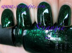 China Glaze - Emerald Sparkle (Loves You Snow Much Collection Holiday 2009) / Scrangie