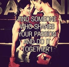 Find someone who shares your passion and do it together... #sport #together #love #couple #boxing