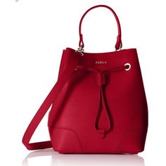 Looking in red  I'm searching for this Furla DrawString bag in RED IF ANYONE HAS ONE PLEASE TAG ME. It's the medium size not mini. I'll pay $200 Furla Bags Crossbody Bags