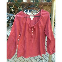 Pink flowy long sleeves top Pink flowy long sleeves top. Super cute!   Brand: Ann Taylor Loft Size: M  NWOT. In perfect condition. Ann Taylor Tops